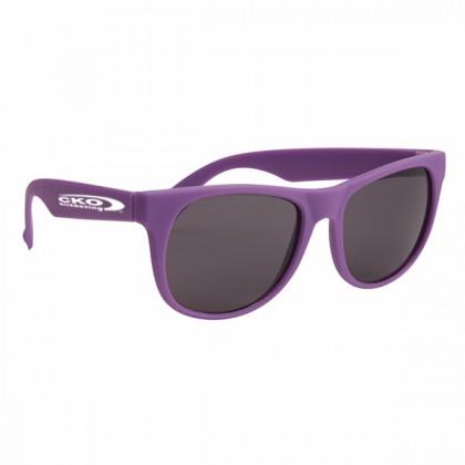 Rubberized Sunglasses - Purple/purple
