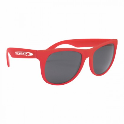 Rubberized Sunglasses - Red/red