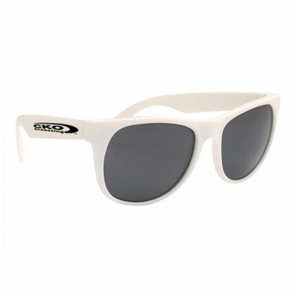 Rubberized Sunglasses - White/white