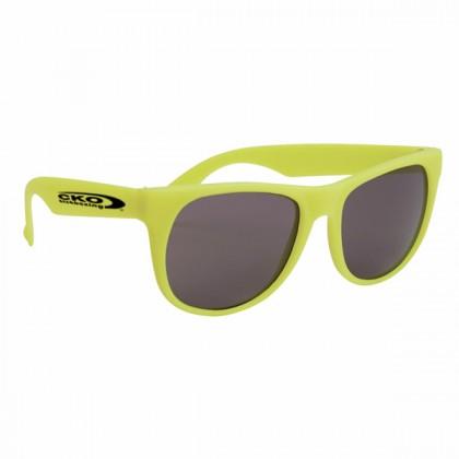 Rubberized Sunglasses - Yellow/yellow
