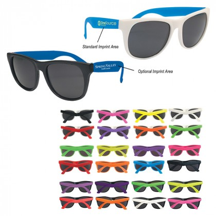 Rubberized Promotional Sunglasses with Business Logo