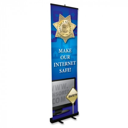 Small Retractable Banner Stand