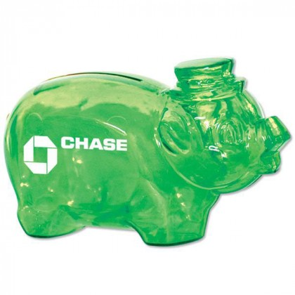 Best Personalized Breakable Piggy Banks | Custom Smash It Piggy Banks - Translucent Green