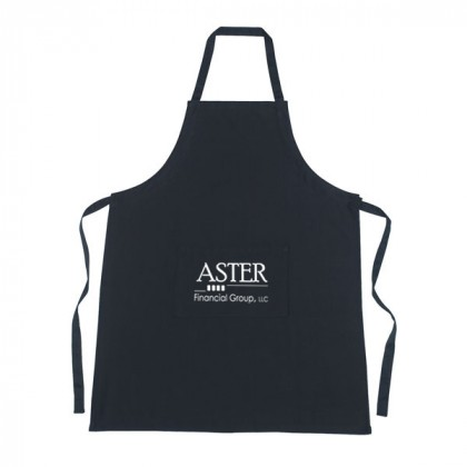 Custom Cotton Apron with Logo - Black