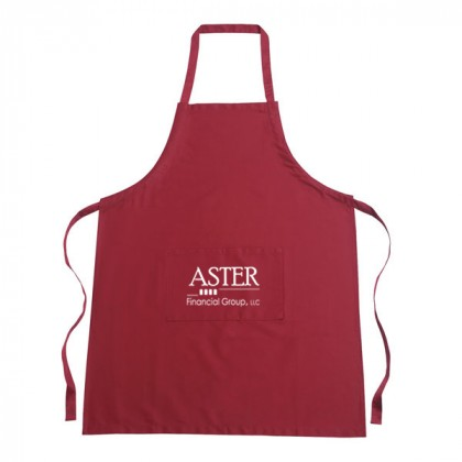 Custom Cotton Apron with Logo - Red