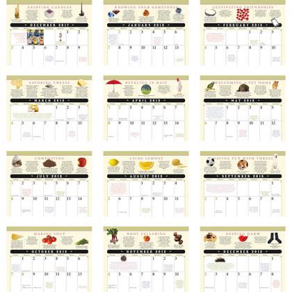 Old Farmer's Almanac Home Hints Calendar - Stapled