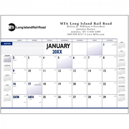 Custom Four-Color Desk Pad Calendar