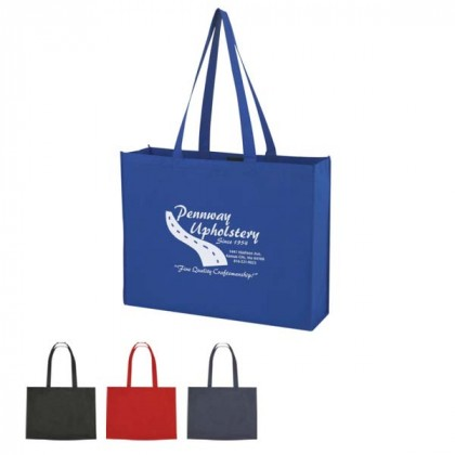 XL Non-Woven Shopper Tote with Velcro-Custom Imprint