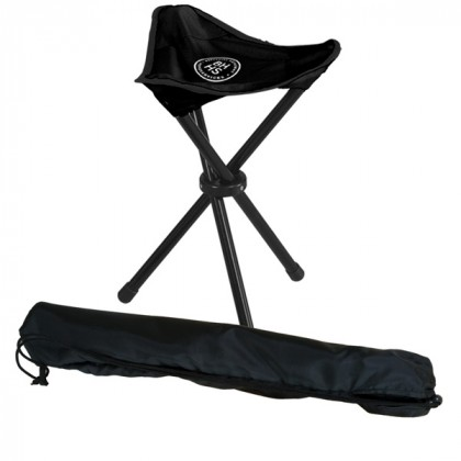Custom Imprint Folding Stadium Chair - outdoors chairs with business logo - Black