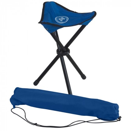 Royal Blue Nylon Tripod Stool Custom Logo