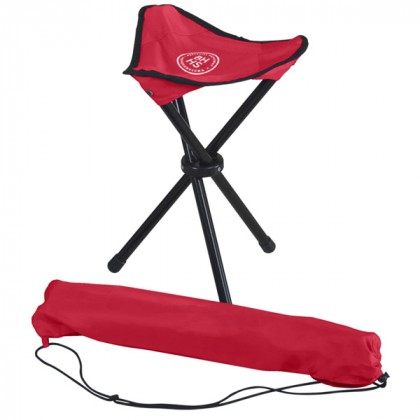 Red Nylon Tripod Stool Custom Logo