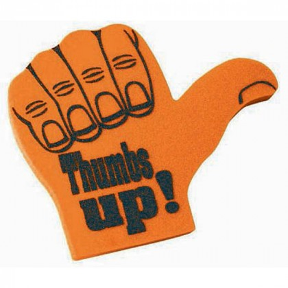 Spirit 16 in. Promotional Foam Thumbs Up