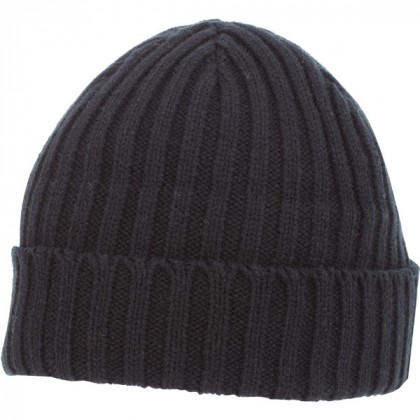 U-Spire Rib custom knit toques with embroidery - promotional winter hats - Black