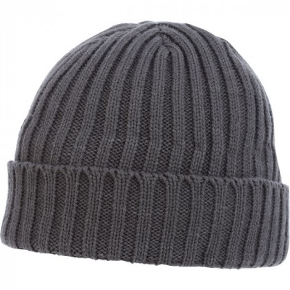 U-Spire Rib custom knit toques with embroidery - promotional winter hats - Charcoal