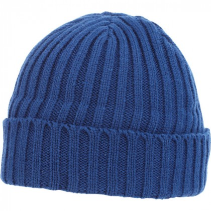 U-Spire Rib custom knit toques with embroidery - promotional winter hats - Nautical Blue