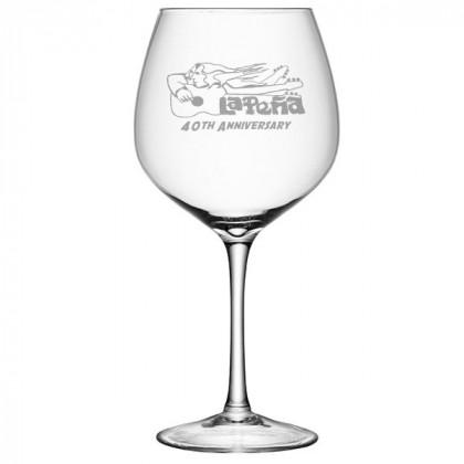 Custom Sand Blasted Whole Bottle Wine Glass Promo Wine