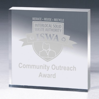 Custom Engraved Classic Square Acrylic Award