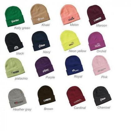 """Sportsman 12"""" Knitted Wholesale Beanies with embroidered logo - Knit toques - Color Options"""