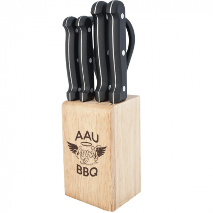 engraved chef 39 s cutlery set in block low min 4allpromos. Black Bedroom Furniture Sets. Home Design Ideas
