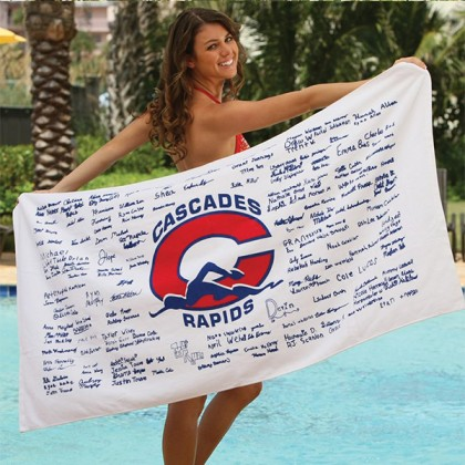 Promotional Signature Beach Towels for School Graduations