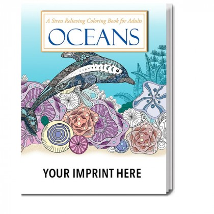 Custom oceans stress relieving adult coloring book wholesale Personalized coloring books for adults
