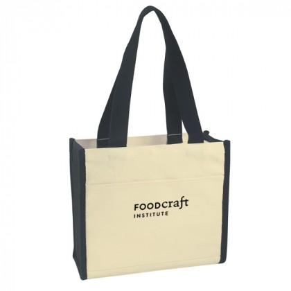 Black Cotton Canvas Tote Bag Custom Logo