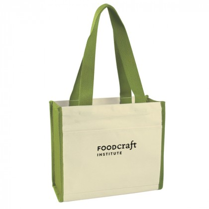 Lime Cotton Canvas Tote Bag Custom Logo