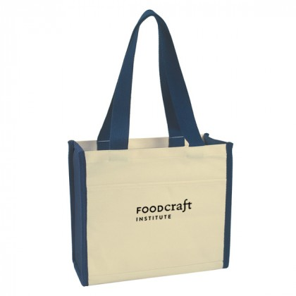Navy Cotton Canvas Tote Bag Custom Logo