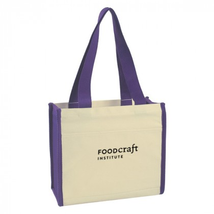 Purple Cotton Canvas Tote Bag Custom Logo