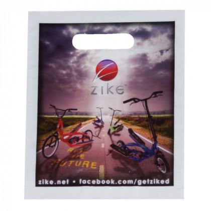 Promo Die Cut Plastic Bag - 7 1/2 x 9   Custom Die Cut Plastic Bags