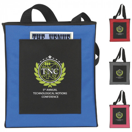 Catalog Pocket Tote Bag Promotional Custom Imprinted With Logo