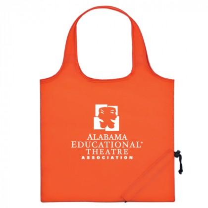 Orange Folding Travel Color Tote Custom Logo
