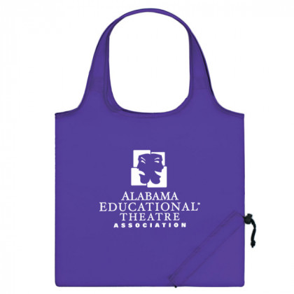 Purple Folding Travel Color Tote Custom Logo