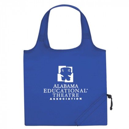 Royal Blue Folding Travel Color Tote Custom Logo