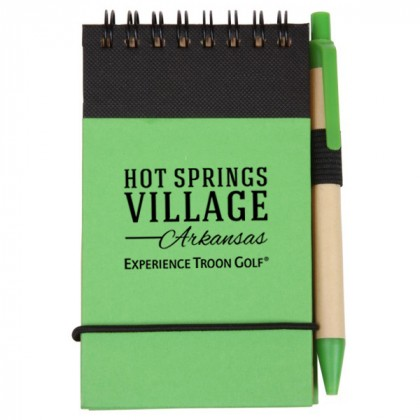 Green Eco/Recycled Jotter