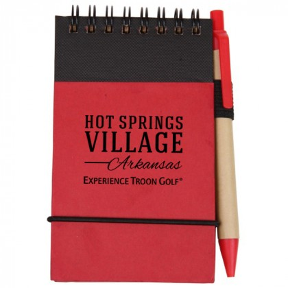 Red Eco/Recycled Jotter
