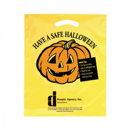Die Cut Yellow Halloween Bag - 12 x 15