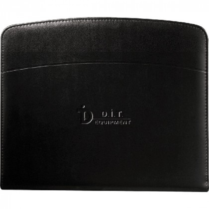 Promotional Windsor Reflections Zippered Padfolio - Black Accent