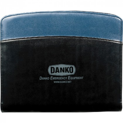 Promotional Windsor Reflections Zippered Padfolio - Blue Accent