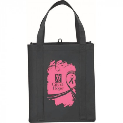 Black Big Polypro Grocery Tote Custom Logo
