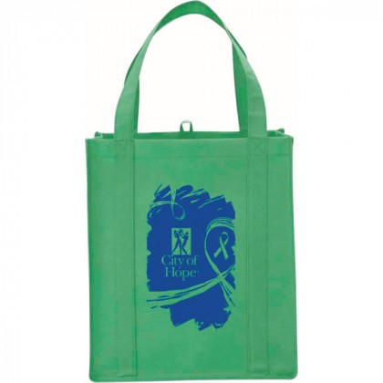Green Big Polypro Grocery Tote Custom Logo