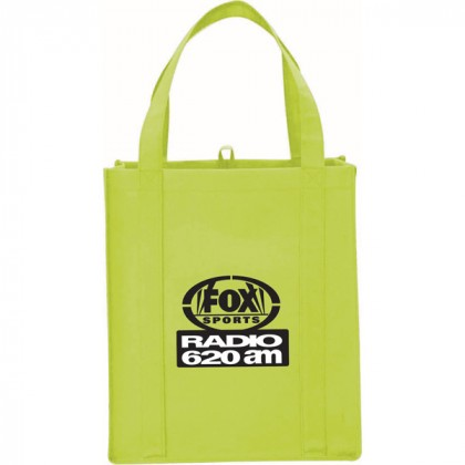 Lime Big Polypro Grocery Tote Custom Logo