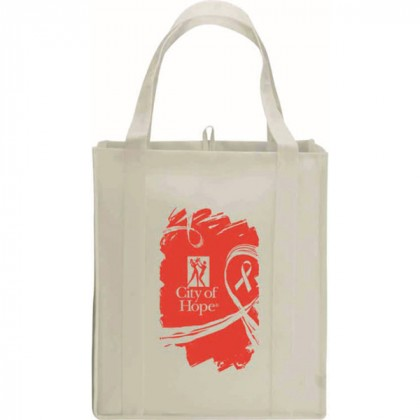 Natural Big Polypro Grocery Tote Custom Logo