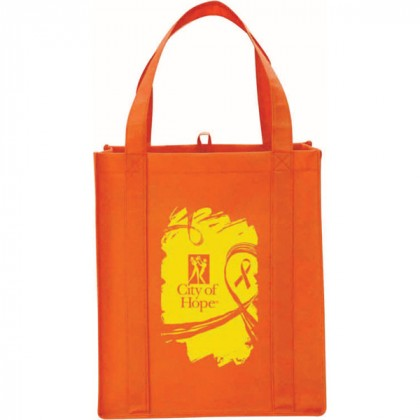 Orange Big Polypro Grocery Tote Custom Logo
