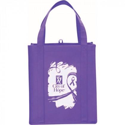 Purple Big Polypro Grocery Tote Custom Logo