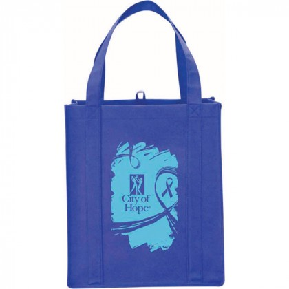 Royal Blue Big Polypro Grocery Tote Custom Logo