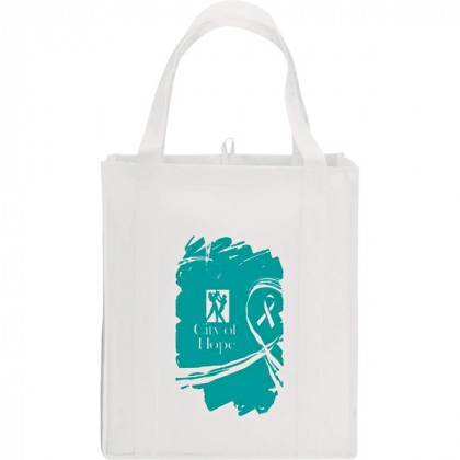 White Big Polypro Grocery Tote Custom Logo