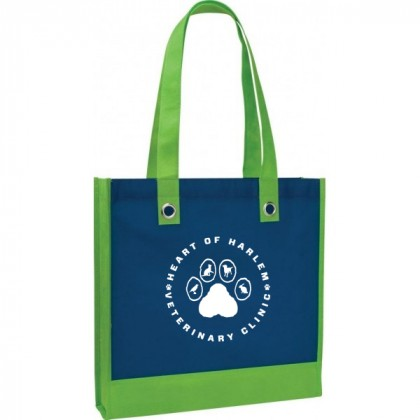Studio Two-Tone Tote with Grommets-Promo