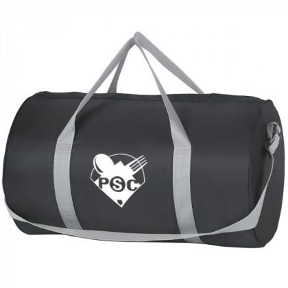 Black Budget Duffle Bag Zipper Custom Logo