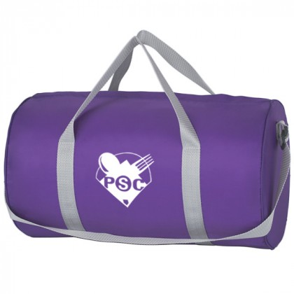 Purple Budget Duffle Bag Zipper Custom Logo